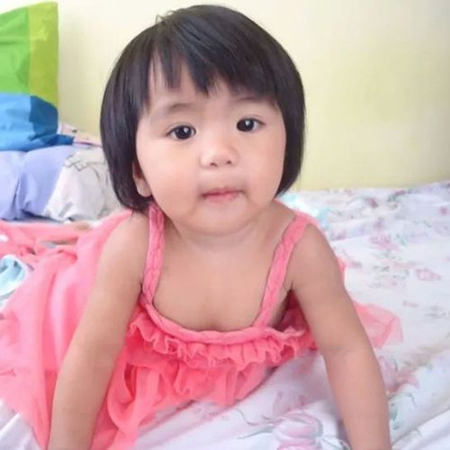 About to turn 1 in a month. Photo grabbed from her mom. Kulitsky Smartysky Babysky Prettygirl