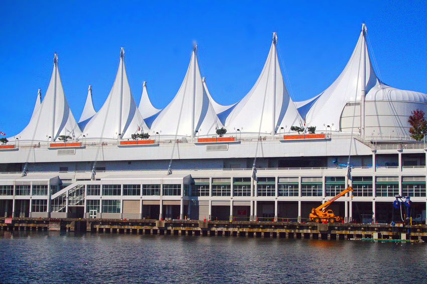 Canad Place Cruise Ship Terminal in Vancouver B.C. CANADA Cruise Ship Terminal Commercial Dock Outdoors B.C. Vancouver BC, Canada