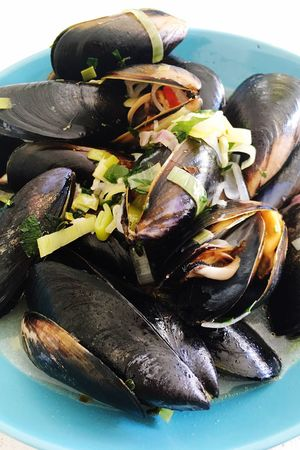 Food And Drink Food Healthy Eating Freshness No People Indoors  Close-up Mussel Ready-to-eat Day Mussels Moules Moules Marinières Seafood Meal