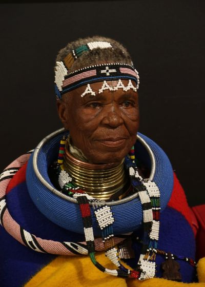 African Traditions Ndebele Art Clothing Jewelry Lifestyles Ndebele One Person Portrait Real People