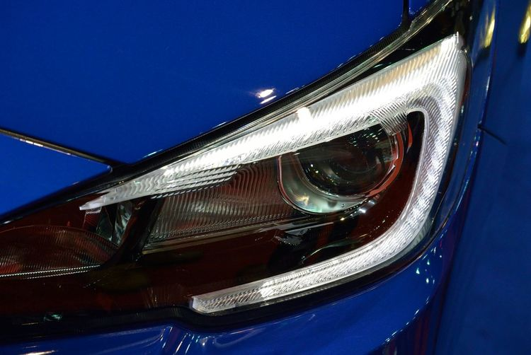 Close-up of modern car headlight