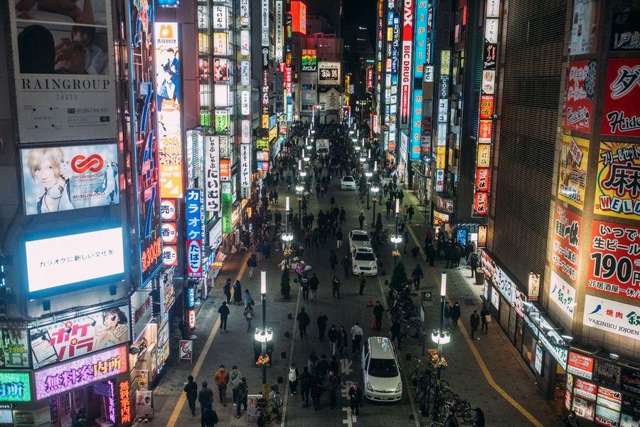 Architecture Building Exterior City City Life Communication Crowd Illuminated Kabukicho Large Group Of People Night Outdoors People Shinjuku Street Travel Destinations