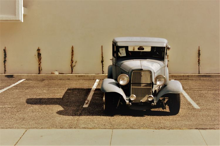 Lone classic Car Classic Truck Hot Rod Mode Of Transport Outdoors Taking Photos Transportation Vintage
