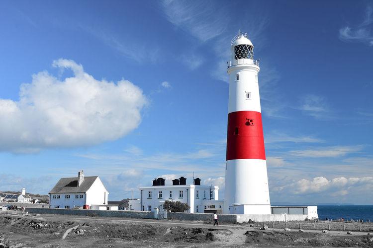 Colorsplash of portrland bill lighthouse in dorset