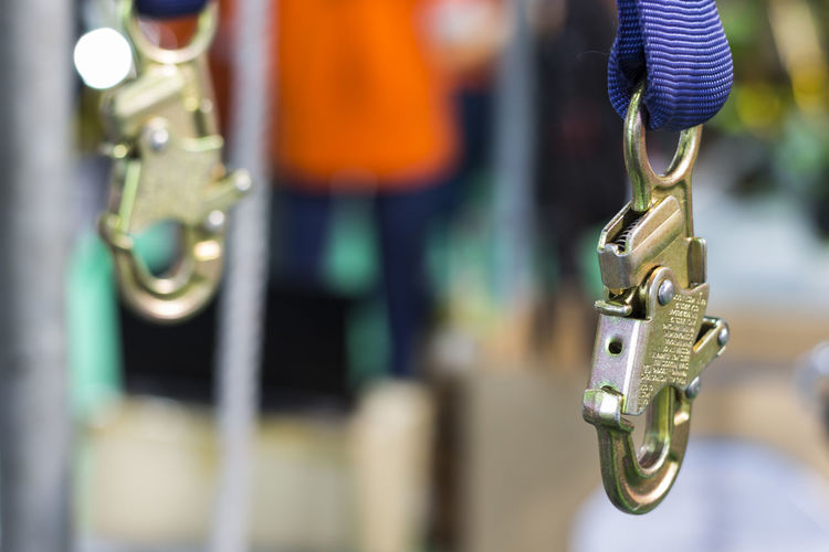 Chain Close-up Day Focus On Foreground For Sale Gold Colored Handle Hanging Human Representation Market Metal No People Outdoors Representation Retail  Retail Display Rod Safety Harness Selective Focus Silver Colored Still Life