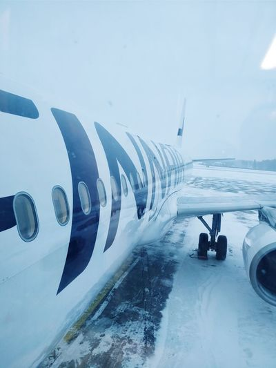 plane in snow Plane Airplane Finnair Technology Internet Communication