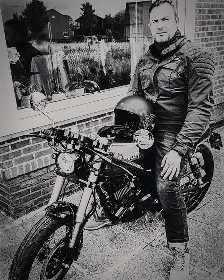 Thats Me  JustMe Me Motorcycle Blackandwhite