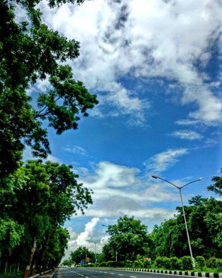 Beauty In Nature Street Cloud - Sky Tree