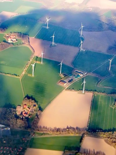 aerial Aerial View Aerial Aerial Photography Eolian Electricity  Landscape Landscape Huwaie P9 Huwaei Photography Oil Pump Sea Flood Water Rural Scene Aerial View Backgrounds Farm Sky
