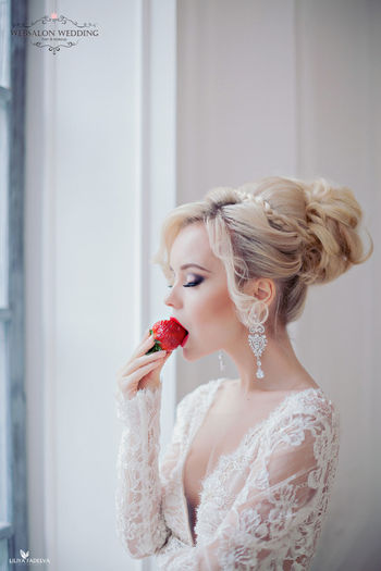 Wedding Photos Fashion Hair Pretty♡ Hairdresser Blondie Blonde Girl Wedding Dress Wedding2015