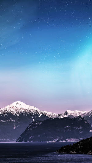Night Mountain Sky Sea Water No People Nature Outdoors Star - Space