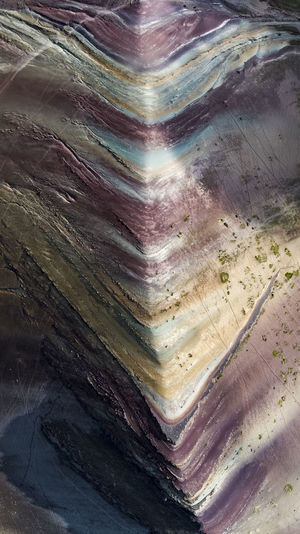 Rainbow Mountain Aerial Aerial View Birds Eye View DJI X Eyeem Mountain Range Mountain South America Peru Wilderness Rainbow Mountain Backgrounds Full Frame Textured  Abstract This Is Latin America