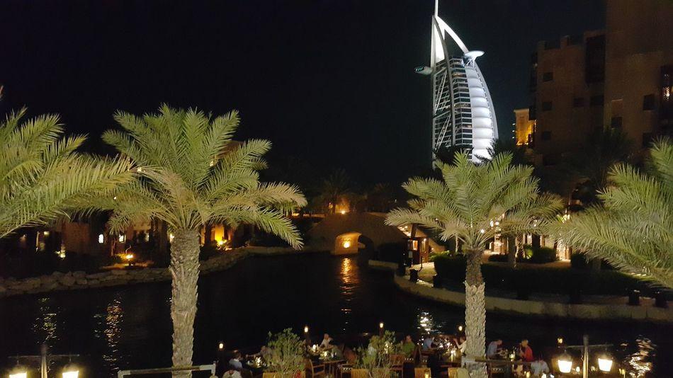 Transportation Night Illuminated Tree City Travel Destinations Outdoors No People Architecture Cityscape City Gate Dubai برج_العرب