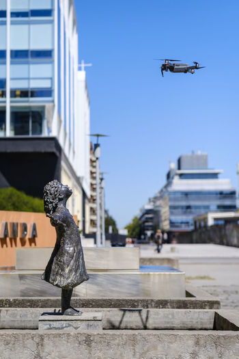 Hello Skynet Buenos Aires Buenos Aires, Argentina  City Creative Day Drone  Fun Irony Original Outdoors Puerto Madero Sculpture Sky Statue Technology