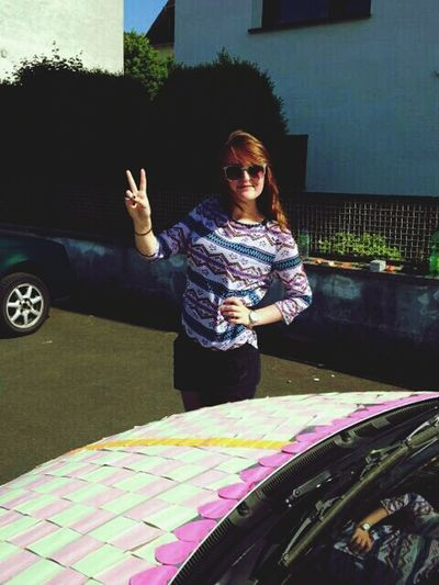 Peace ✌ Car with Postits Sunshine ☀ Peoplephotography Sweet Favourite Fun