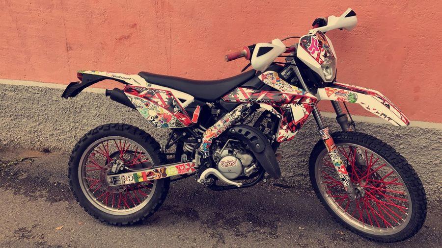 Vihti, Finland. No People Rieju50 Motorcycle Biker Tape Art Fox Motocross Love