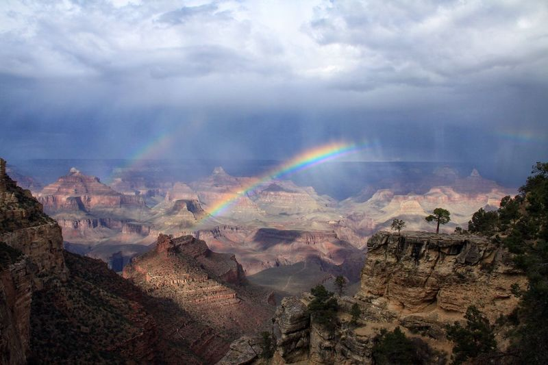 Double rainbow @ the Grand Canyon Rainbow Nature Cloud - Sky Scenics Beauty In Nature Sky Outdoors First Eyeem Photo