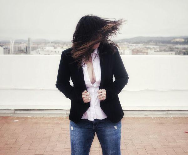 Popular Photos Young Women Sky Jeans
