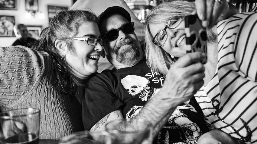 My Smartphone Life Photo Bombing Texting Selfie Self Nation