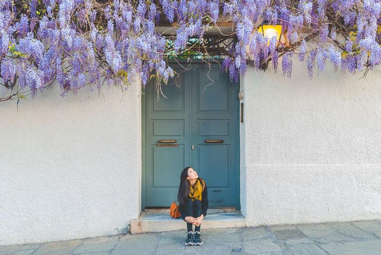 That door. And