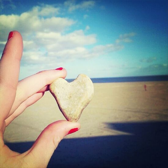 heart stone found on the beach taken by me :)