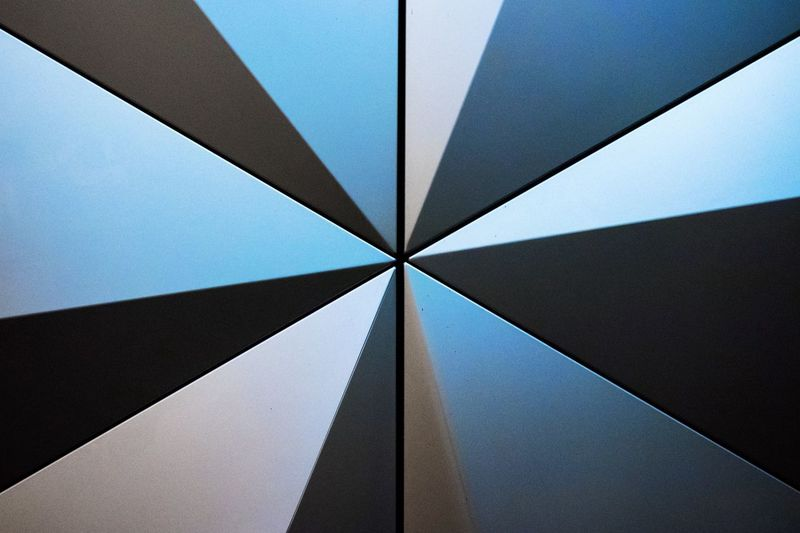 Geometric Design Geometric Shape Pattern, Texture, Shape And Form Pattern Backgrounds No People Pattern Geometric Shape Shape Blue Full Frame Abstract Architecture Close-up Low Angle View Built Structure Triangle Shape