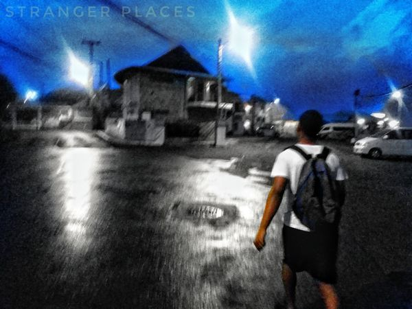 Real People Men Lifestyles Sky Walking One Person Road Outdoors Leisure Activity People Late Night Late Night Walk Late Night Run Blue Sky Blury Pic BYOPaper!