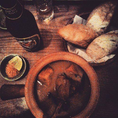 Duck curry, bread, chili-salt & lime and a beer. Hearty. Goodfood Nomnomnom Hearty PropagandaRestaurant Hochiminhcity Saigon Hcmc BBCTravel Worlderlust Travel Travelingram Travelgram Vietnam