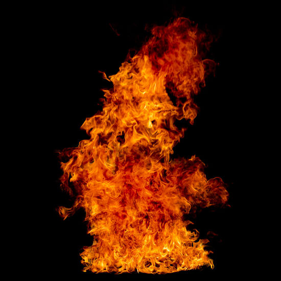 The flame is