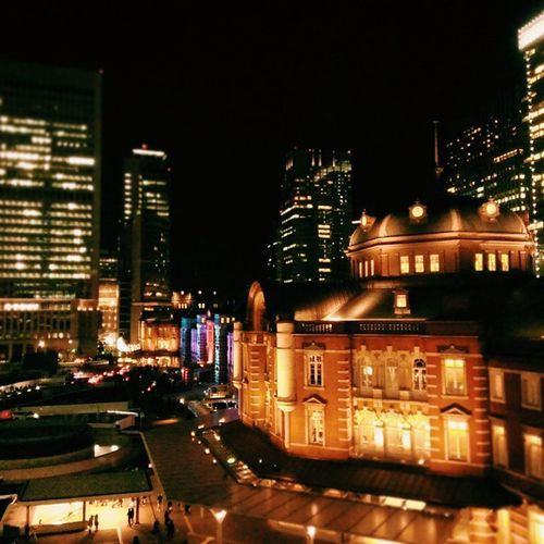 KITTE局長室からも😃💕 Vscocam Japan 東京ミチテラス Winterscenery Winter Illumination Tokyostation Tokyo LoveTokyo KITTE