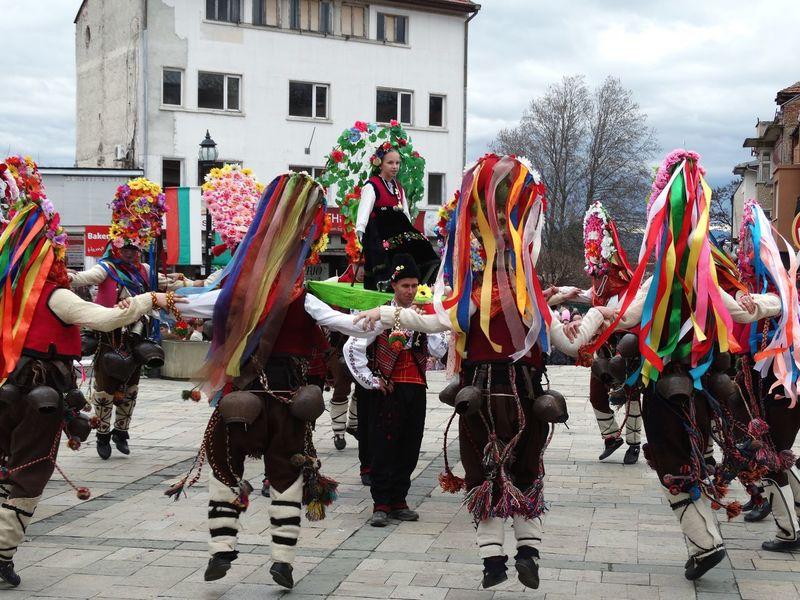 Kukeri celebration in Karlovo, Bulgaria. Kukeri First Eyeem Photo Snowcase March Celebration Bulgaria Customs No Filter Sony Hx300 March Traditional Culture The Photojournalist - 2018 EyeEm Awards