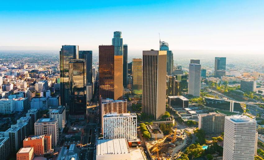 Aerial View Of Buildings In City Against Sky