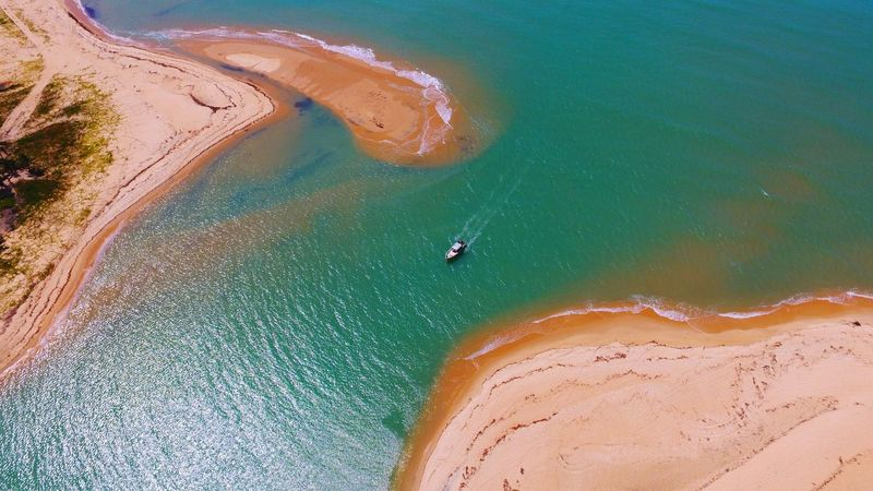 Pontal do Corumbau, Prado, Bahia, Brazil. Acesso por Caraíva, Bahia, Brazil Drone  Dronephotography Aerial Shot Aerial Photography River Caraiva Boat Paradise Beachphotography Beach Photography Brazil Bahia Beach Life Aerial View High Angle View Sand Beach Water Nature Landscape Sea Day Outdoors Scenics Travel Destinations Beauty In Nature An Eye For Travel