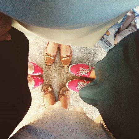 Mommy-me-and sisters 😍 Sundaybonding Feelinglove Shoes ♥ Brown And Red Flats Heels Shoeselfie 2016 EyeEm Awards Eyem Philippines EyeEm Best Shots Taking Photos Enjoying Life Hello World Fashion&love&beauty Street Photographer-2016 Eyem Awards Telling Stories Differently Eyemphotography