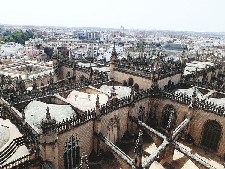 Cityscape Architecture Built Structure Building Exterior No People Outdoors Aerial View Sky Catedral De Sevilla