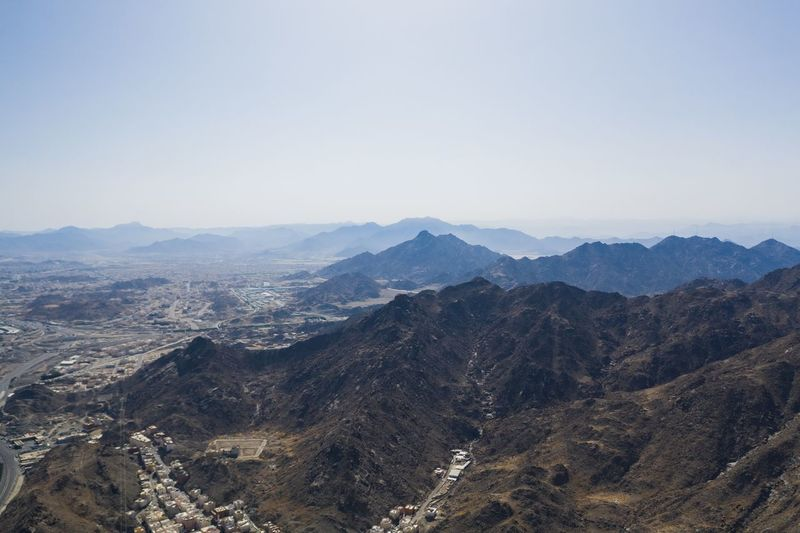 Jabal An Nur Mecca Al-mukarramah Arabian Gulf Mecca Saudi Arabia EyeEm Selects Mountain Beauty In Nature Mountain Range Scenics - Nature Landscape Tranquility Tranquil Scene Sky Environment Nature Non-urban Scene No People Clear Sky Day Outdoors Majestic Land Remote