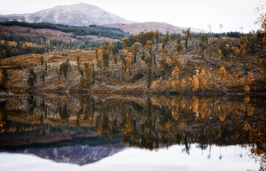 Autumn in Scotland Autumn EyeEm Nature Lover EyeEmNewHere Scotland The Week On EyeEm Beauty In Nature Day Eye4photography  Landscape Mountain Nature No People Outdoors Scenics Sky Snow Tranquil Scene Tranquility Tree Water