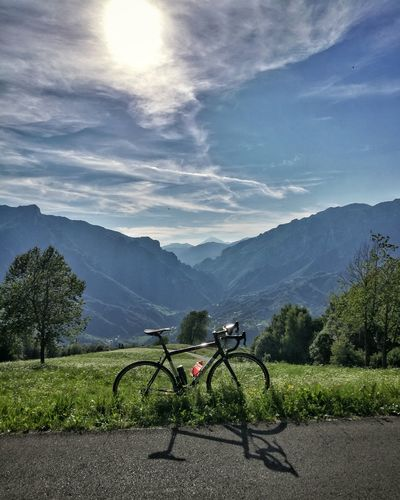 Landscape Cloud - Sky Scenics No People Green Color Sky Day Sunlight Outdoors Mountain Range Mountain Freshness Cycling Road Cycling Sport Sports Training Training Tranquility Nature Beauty In Nature Orobie Orobian Alps Valbrembana