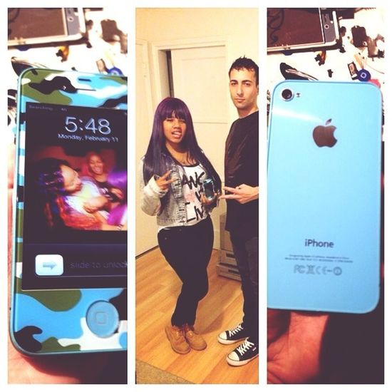 #repost from the homie. thanks for my blue camo phone, ilove it!
