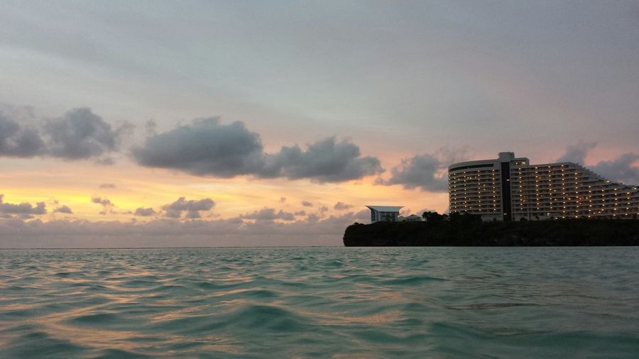 Hotel Nikko in Guam. Sunset #sun #clouds #skylovers #sky #nature #beautifulinnature #naturalbeauty #photography #landscape Hotels Islandlife Guam Pacificislands Vacationspots