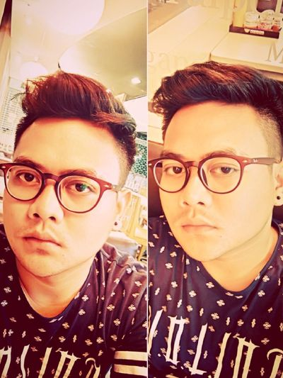 Hei...its my new sunglasses... How about you? Me Hello World Menhairstyle Sunglasses👓