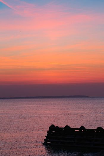 When life is too busy, somehow a quiet ocean at sunset, resets the clock. Sea Sky Sunset Beauty In Nature Scenics - Nature Water Horizon Over Water Tranquility Orange Color Tranquil Scene Idyllic Nature Cloud - Sky Horizon Land Beach No People Dramatic Sky Outdoors