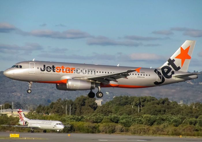 Jetstar Airbus A320-232 about to touchdown on RW03 Air Vehicle Transportation Sky Flying Cloud - Sky Mode Of Transport Day Outdoors Travel Airport Runway Jetstar Airbus Perth Airport Airport Aviationphotography Aviation No People Airplaneaft] Commercial Airplane Eyemphotography