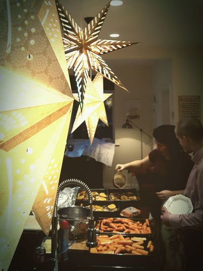 This Is Christmas day 10. Christmas Dinner Christmas Decoration Star Illuminated Preparations Good Friends In The Kitchen Good Times Celebration