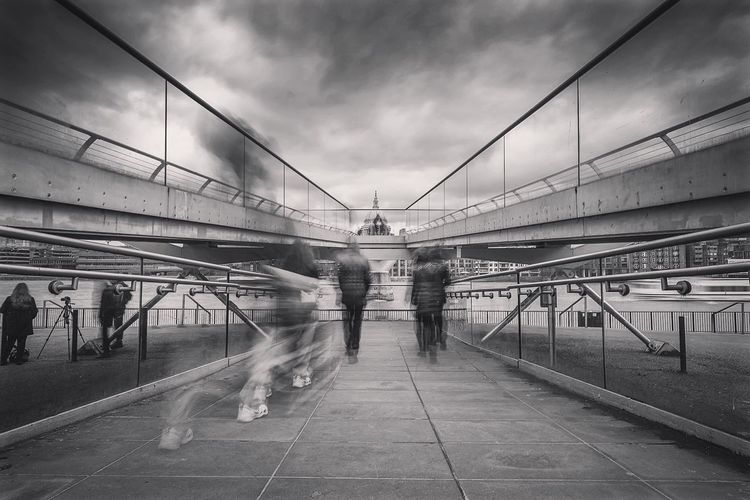 Rush The Street Photographer - 2016 EyeEm Awards LDN London Cityscapes City Life Capital Cities  Londonlife Streetphotography Walking Around The City  Pedestrians Blurred People People Walking  Human Movement Motion Blur St Paul's Cathedral Millenium Bridge The Great Outdoors - 2016 EyeEm Awards Blackandwhite Lovegreatbritain Long Exposure People Walking  Walking Around The City  My Commute People And Places EyeEm LOST IN London