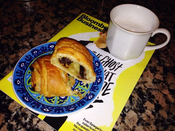 Coffee And Sweets Taking Photos Good Morning Cappucino Chocolate Croissant Bloomberg Business Favoritethings