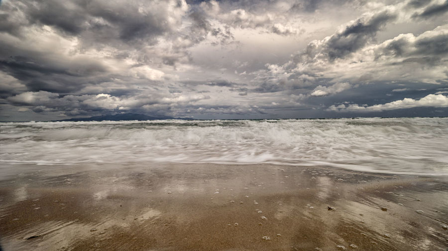rainy days on the beach EyeEm Best Shots EyeEm Nature Lover EyeEmBestPics Open Your Mind Beach Cloud - Sky Outdoors Refelections Sea Tranquility Lost In The Landscape Perspectives On Nature
