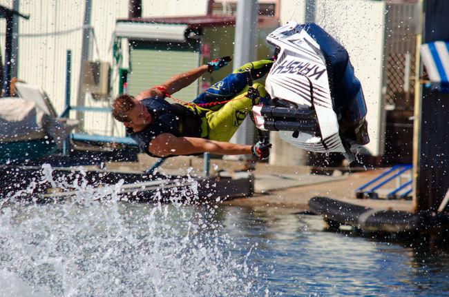 Jet Ski Stuntshow Tricks Water Sports Action Shot