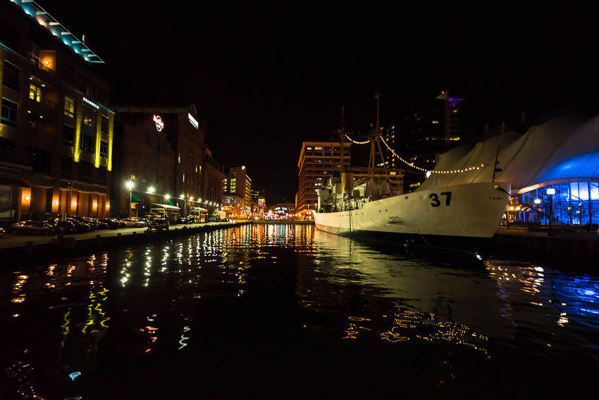 Baltimore Baltimore Harbor Baltimore Maryland Irix 15mm Maryland Nikon Architecture Building Exterior Built Structure City Cufotos Illuminated Light City Light City Baltimore Mode Of Transport Nautical Vessel Night No People Outdoors Reflection Ship Sky Transportation Water Waterfront