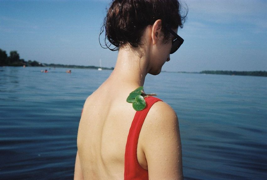 35mm 35mm Film Analogue Photography Back Film River View Riverside Summertime Beauty In Nature Film Photography Filmisnotdead Lake Lifestyles Nature Neck One Person Outdoors Real People Rear View River Scenics - Nature Sky Summer Vacations Water